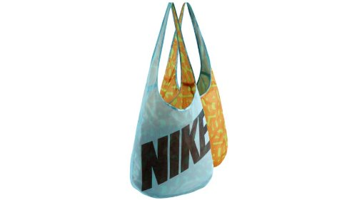 Nike Graphic Reversible Tote Carry All Gym Bag-Blue/teal