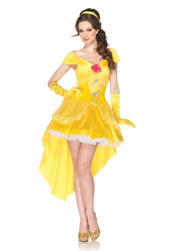 Disney Princess Belle Costume Dress, Yellow, Medium/Large