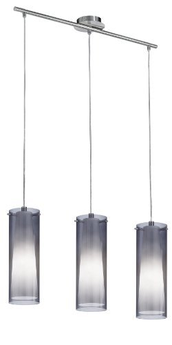 Eglo 90305A Pinto Nero Trestle Hanging Light, Matte Nickel