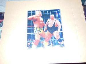 - Hulk Hogan Autographed 8x10 Photo w/ Mounted Memories Hologram King Kong Bundy