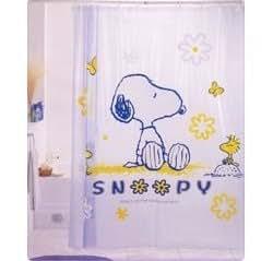 Peanuts Snoopy Shower Curtain & Hooks