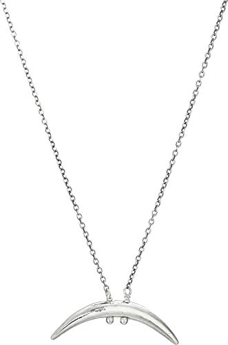 Chan Luu Women's Silver Petite Horn Necklace Silver One ()