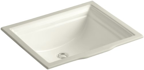 KOHLER K-2339-96 Memoirs Undercounter Bathroom Sink, (Kohler Memoirs Biscuit)