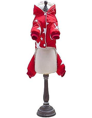 Candybush Espesor Cuatro Patas Chaqueta de algodón para Mascotas Perros Abrigo de Invierno con patrón de