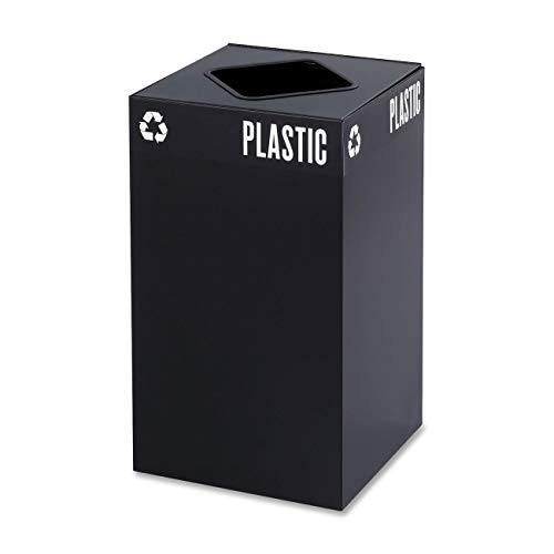 (Safco Products 2981BL Public Square Recycling Trash Can Base, 25-Gallon, (Top sold separately), Black)