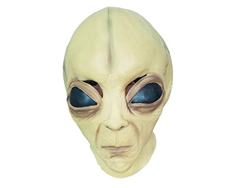 PARTY STORY Creepy Alien Halloween Cosplay Costume Mask for Adults Scary Party Decoration Props