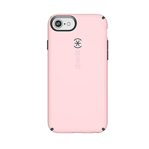 Speck Products CandyShell Cell Phone Case for iPhone 8/7/6S/6 - Quartz Pink/Slate Grey (Ipod 5 Case Jewels)