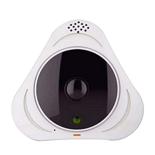 B Blesiya Security Wireless Wi-fi Night Vision Monitor Camera 1.3MP, with fish-eye Lens and no blind area - White from B Blesiya