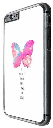 1207 - Pink Butterfly Quote A butterfly Flying From Flower to Flower Design For iphone 5C Fashion Trend CASE Back COVER Plastic&Thin Metal -Clear