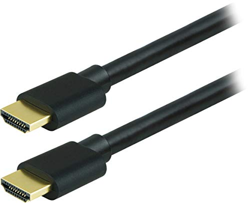 GE HDMI Cable, 2 Pack, High Speed, 6 Foot HDMI, 4K Ultra HD, Full HD 1080P, 10.2Gbps Data Transfer, Works with HDTV, Cable, Game Consoles, Blu Ray, and More, Gold Plated Connectors, Black, 33583