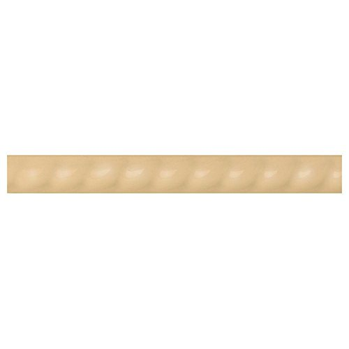 (Liners Luminary Gold 1 in. x 6 in. Ceramic Rope Liner Trim Wall Tile)