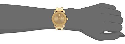 movado bold 3600085 36mm gold steel bracelet case anti movado bold 3600085 36mm gold steel bracelet case anti reflective sapphire men s women s watch amazon co uk watches