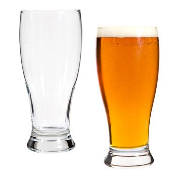 One 19 oz. Pilsner Beer Glass - Ounce Pilsner Beer 19