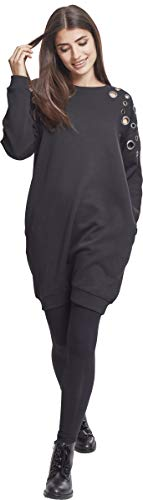 Vestito Sweat Donna Black Urban Eyelet Ladies Dress 00007 Classics Nero q7XWYE