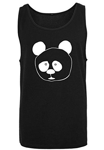 color hombre negro Panda sin para Tank Camiseta sin Camiseta musculosa Camiseta mangas de mangas Big 2store24 4If6q6