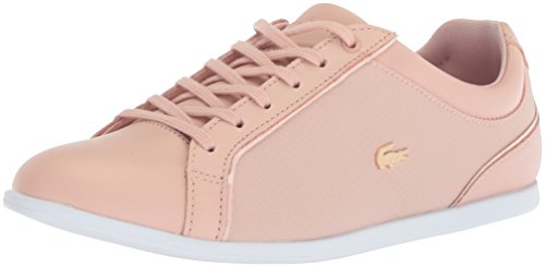 Lacoste Sneakers Lace (Lacoste Women's Rey Lace Sneakers,Natural synthetic,8.5 M US)