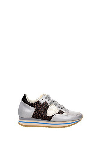 THLDAT01 Philippe Model Sneakers Mujer Piel Plata Plata