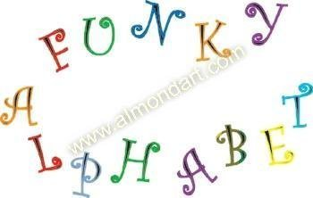 Funky Alphabet and Numbers Set - Tappit by FMM Sugarcraft