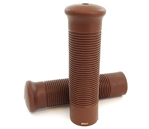 Bomber Motorcycle Grips - Chocolate Brown - Retro Cafe Racer Bobber Tracker Chopper (Bomber Chocolate)