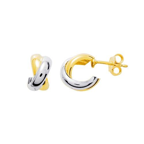 Boucles d'oreilles clous - Or bicolore 9 cts - 9K351604G