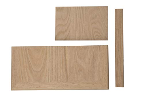 Stair Red Treads Oak - Complete Universal Tread Kit - False Tread Cap, Riser, and Trim (Red Oak)