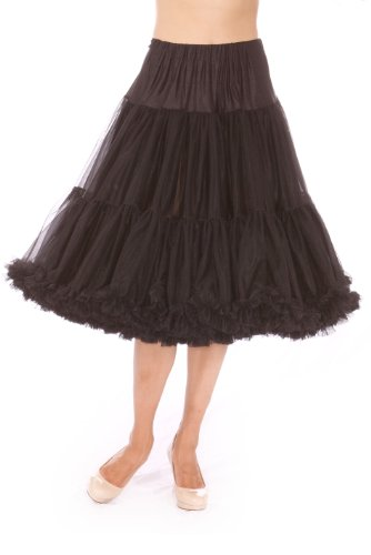 50s petticoat swing dress pink and black roses - 4