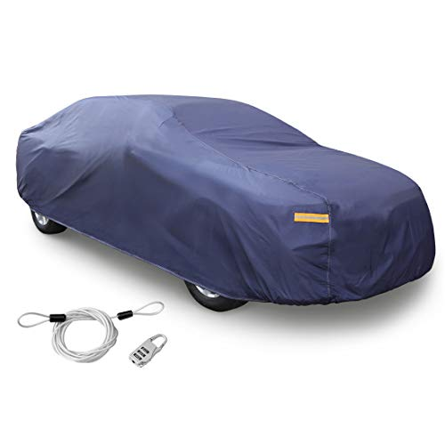 uxcell 3XXL Blue Car Cover Outdoor Weather Waterproof Breathable Scratch Rain Snow Sun UV Heat Resistant 570 x 190 x 160cm