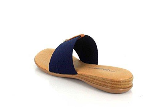 Andre Women's 2 Sandal Assous Nice Elastic Thong Navy rZxwrgCqz
