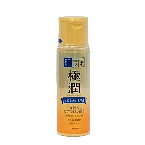 Rohto Hadalabo Gokujyun Premium Hyaluronic Acid Lotion 5.7floz/170ml (Hada Labo Super Hyaluronic Acid Moisturizing Lotion)