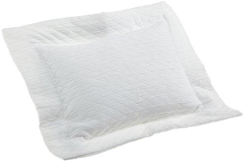 Belle Epoque Europa Matelasse Boudoir Pillow, White (Bella Pillow Boudoir)