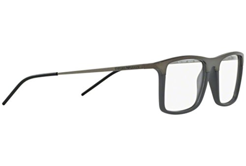b4c62f3453e Armani EA1058 Eyeglass Frames 3003-53 - Matte Gunmetal Matte Grey at Amazon  Men s Clothing store