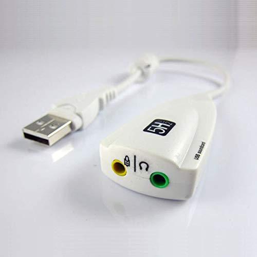 DHINGM Tarjeta de audio externa USB, tarjeta de sonido externa 7.1 ...