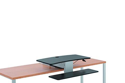 HON Directional Sit to Stand Desktop, Silver/Black (HS1100) -  HONS1100