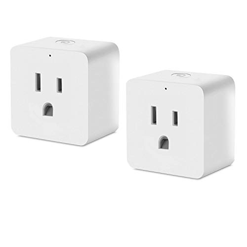 Smart Plug, Wifi Smart plug Works with Amazon Alexa Echo Google Home and IFTTT, No Hub Required, White (2 Pack)