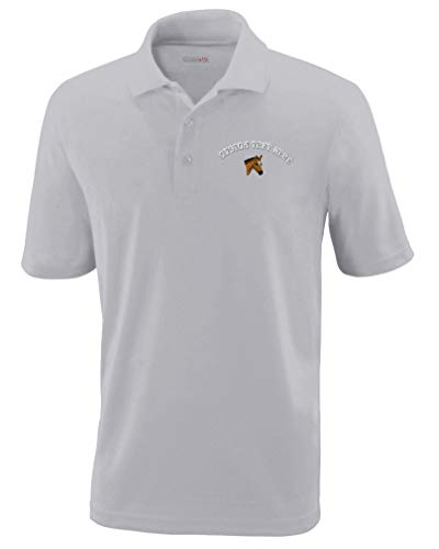 062e4f22a Amazon.com  Custom Text Embroidered Animal Horse Colt Head Mens Polyester  Polo Shirt  Clothing