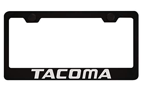 Toyota Tacoma Black License Plate Frame with Caps