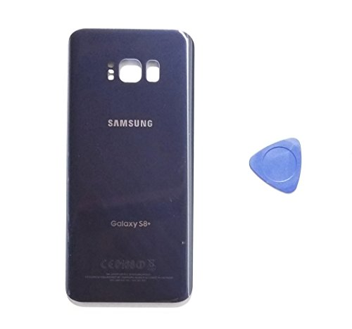 (md0410) Galaxy S8 PLUS OEM Orchid Gray Rear Back Glass Lens Grey Battery Door Housing Cover + Adhesive Replacement For G955 G955F G955A G955V G955P G955T with opening tool