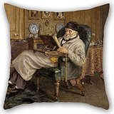 Carlyle Bunny - Alphadecor Pillowcover Of Oil Painting Mrs Helen Allingham - Thomas Carlyle, 1795 - 1881. Historian And Essayist 18 X 18 Inches / 45 By 45 Cm,best Fit For Father,bench,play Room,car Seat,office,bed