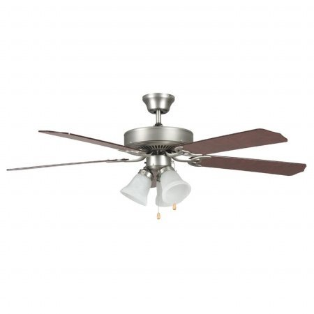 Concord Fans 52HEH5ESN 52 Inch Heritage Home Ceiling Fan with Lt Kit - Satin Nickel