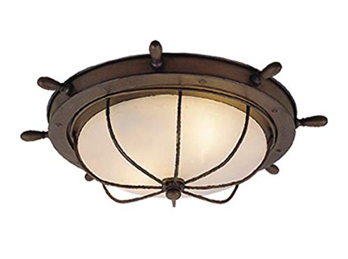 Vaxcel OF25515RC Orleans 15-Inch Outdoor Ceiling Light, Antique Red Copper ()