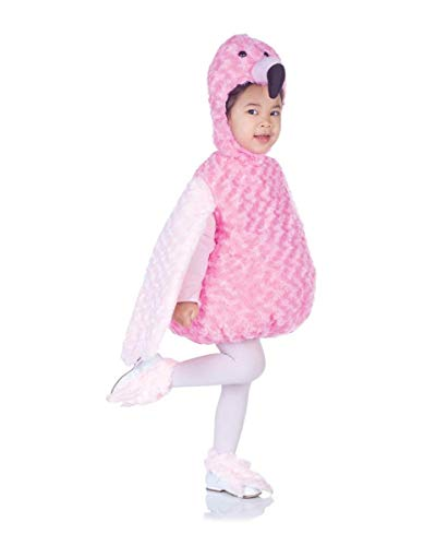 (Underwraps Costumes Baby's Flamingo Belly-Babies, Pink,)