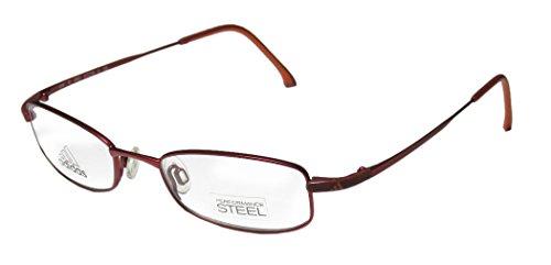 Adidas A948 Unisex/Boys/Girls/Kids Designer Full-rim Eyeglasses/Glasses (47-18-130, Merlot / (Adidas Gold Lens)