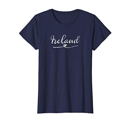 Womens I Love (Heart) Ireland Women's T-Shirt - Vintage Irish Flag