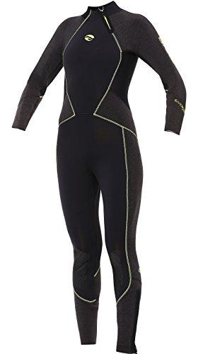 7mm Elastek Full Stretch Suit - Bare Women's 7mm Evoke Cold Water Elastek Full-Stretch Full Suit, Black Lime, 4 Tall