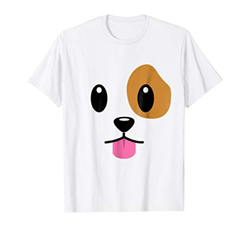 Puppy Dog Emoji Face Halloween Costume T-Shirt]()