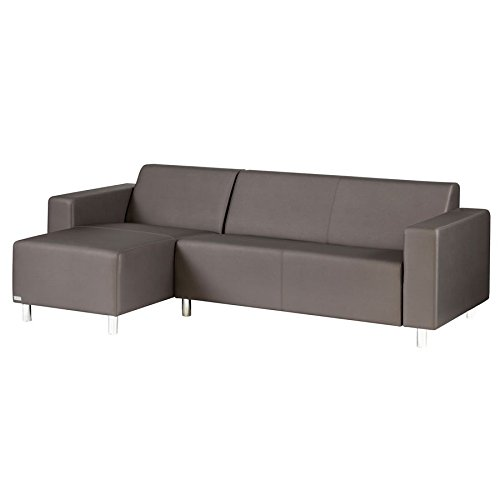 TRINITI® TOM LOUNGE SOFA CHAISELONGUE (LINKS) - METEOR BRAUN - WETTERFESTER SILVERTEX BEZUG