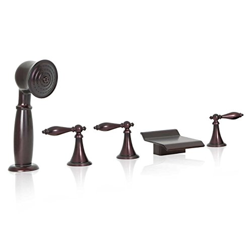 Orb Roman Tub - FREUER Bellissimo Collection: Handshower Roman Tub Faucet, Oil Rubbed Bronze