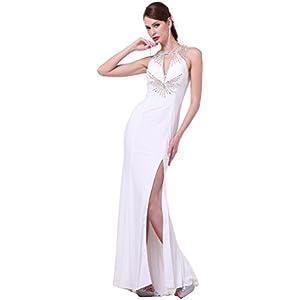 a03dcadbb4 Meier Women s Beaded Halter Open Back Pageant Prom Evening Dress 60547 size  8
