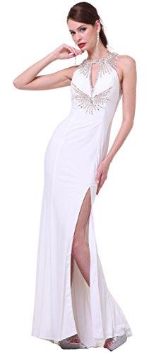 Meier Women's Beaded Halter Open Back Pageant Prom Evening Dress 60547 size 2