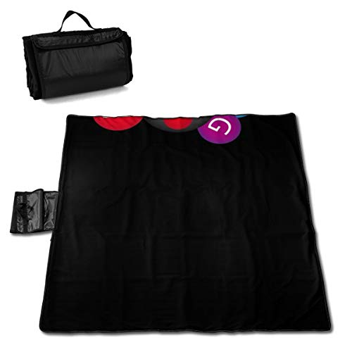 """TARDIGA Bowling Ball Clipart Portable Large Picnic Blanket 57"""""""" x59 Outdoor Waterproof Sand Free Camping Blanket Mat with Tote Bag for Camping Yard Lawn"""